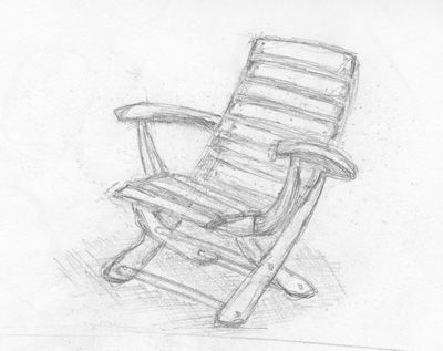 Dessin une chaise for Chaise 3d dessin